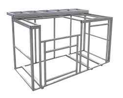 Kitchen Island Metal Amazon Com Cal Flame 6 U0027 Outdoor Kitchen Island Frame Kit With