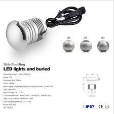 Led Floor L 10pcs New Design Ip67 Waterproof 12v 3w Mini Led Floor Light