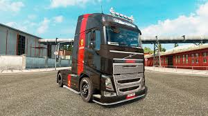 volvo truck trailer ferrari skin for volvo truck for euro truck simulator 2