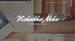 Front End Ui Developer Resume Vishakha Nehe Frontend Dev U2022 Portfolio U2022 India