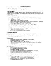 Waitress Job Description For Resume by Subway Resume 22 Cover Letter Subway Job Description Resume
