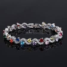 sterling silver crystal bracelet images Women sterling silver crystal bracelets prolyf styles jpg
