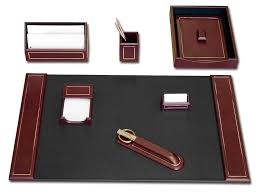 Brown Leather Desk Accessories Burgundy Leather 24kt Gold Tooled Leather 7 Desk Set Png