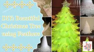 diy make beautiful christmas tree using feathers k4 craft