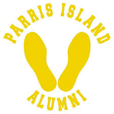 usmc alumni parris island alumni yellow footprints vinyl decal matte indoor