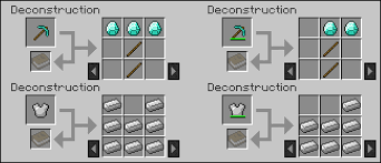 Minecraft Crafting Table Guide Deconstruction Table Minecraft Mods