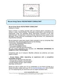 Cover Letters To Recruitment Agencies Nanny U0026 Butler Bespoke Services Linkedin