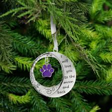 you to the moon back paw ornament the animal rescue site
