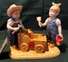 Home Interior Denim Days Figurines by Denim Days Figurines By Homeco Collectibles