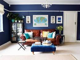 Navy Living Room Furniture Stylish Blue Living Room Makeover Real Homes