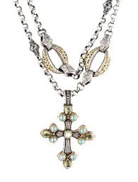 multi stone cross necklace images Konstantino multistone pearl cross pendant necklace necklaces jpg