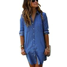 jean shirt dress plus size pluslook eu collection