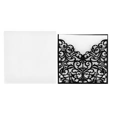 Black And White Invitation Cards 10pcs Romantic Wedding Party Invitation Card Delicate Carved