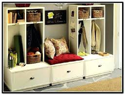 georgeous entryway storage rack with bench best coat rack bench