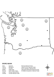 Wenatchee Washington Map by Washington Map Worksheet Coloring Page Free Printable Coloring Pages