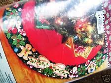bucilla felt applique tree skirt kit s wreath