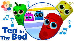 Make The Bed In Spanish Ten In The Bed 3d Nursery Rhymes Song Color Crew Babies 3d