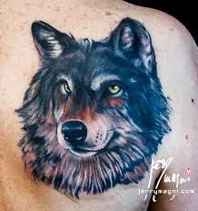 wolf cover up jerry magni artist