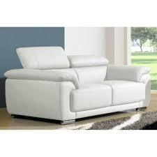 canape cuir blanc convertible design d intérieur canape cuir confortable canapac 2 places blanc