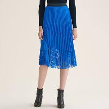 pleated skirt jarane pleated skirt with lace skirts shorts maje