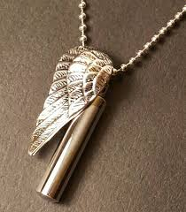 cremation jewelry for men stainless steel wing pendant wing urn cremation jewelry