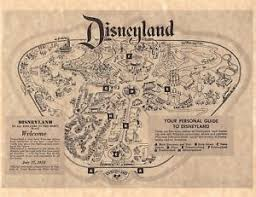 printable map disneyland paris park vintage style 1955 disneyland park brochure map poster print