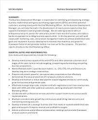 sample business development job description 9 examples in pdf word
