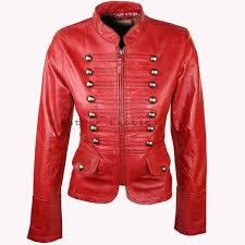 women leather military jacket designer style leather military jacket