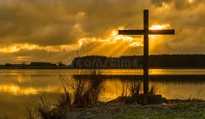 sunrays cross stock photo image of religious reflection 55733654