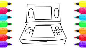 how to draw game console for children coloring pages toys for