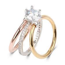 bridal set rings 3 tone 3 pc 2 0 ct cut lab created diamond bridal set