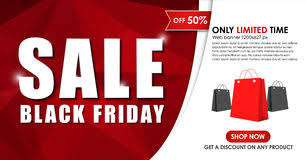 black friday banner set of black friday banners design for web background stock
