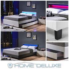 Schlafzimmer Bett Mit Led Led Doppelbett Lederbett Bettgestell Lattenrost Kunstlederbett