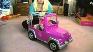 pink convertible jeep our generation car youtube
