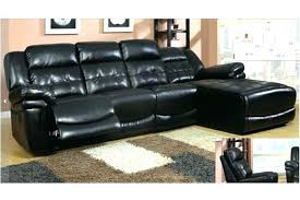 Black Sectional Sofa With Chaise Stunning Black Leather Reclining Sectional Sofa Pictures