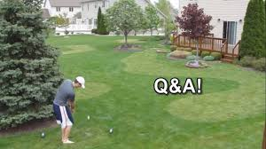 backyard golf course qa pics on stunning backyard golf hole set