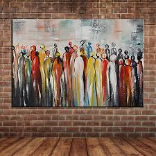 compare prices on framed wall murals online shopping buy low modern abstract cartoon portrait crowed people oil painting on canvas hand painted wall mural picture decoration