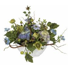 silk flower arrangements nearly natural hydrangea centerpiece silk flower arrangement 4622 bl