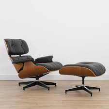 vintage eames lounge chair and ottoman herman miller original vintage cherry black leather eames lounge