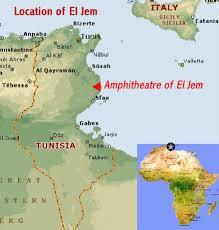 tunisia on africa map hitheatre of el jem tunisia world heritage