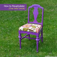Reupholster Armchair Tutorial How To Reupholster A Chair Seat The D I Y Dreamer