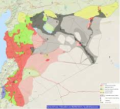 Syria Battle Map by Agathocle De Syracuse Syria Areas Of Control 8 Sept 2014