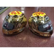 chupa chup razor ii lorenzo gold chupa chup helmet