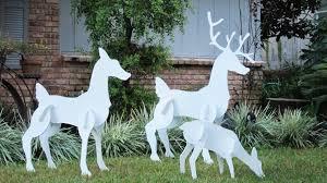 furniture adorable outdoor reindeer decorations lighted