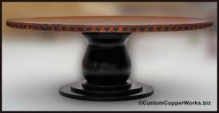 Distressed Pedestal Dining Table Copper Table Tops Copper Top Dining Tables Copper Bath Tubs