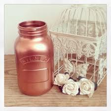 Copper Flower Vase Large 1 Litre Kilner Jar Metallic Rose Gold Copper Flower Vase By