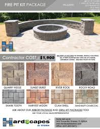 Firepit Kits by Allan Block Project Kits For Florida Contractors