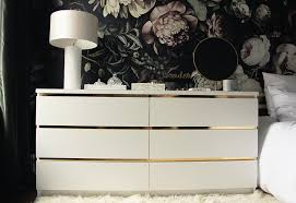 malm dresser hack malm vintage style gold dresser ikea hackers