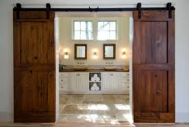 wooden sliding doors for wonderful rustic interior design
