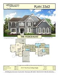 layouts of houses plan 3362 the federalist two house plan greater living